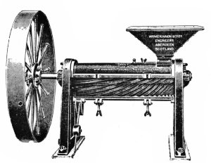 The Smout Peeler and Polisher, with Cylinder Open Showing Cone