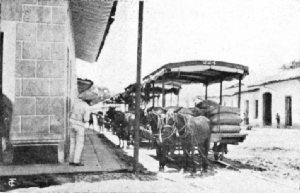 Street Car Coffee Transport in Orizaba, Mexico
