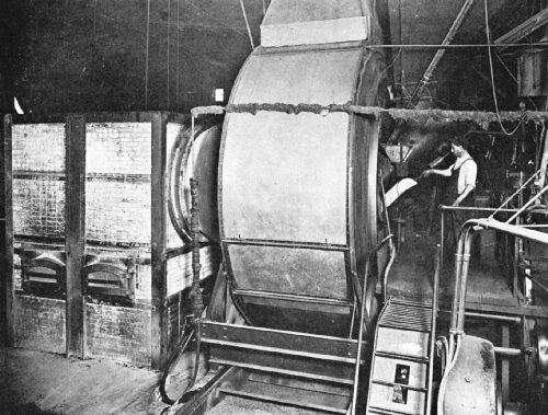 Jumbo Coffee Roaster, in the Arbuckle Coffee-Roasting Plant, New York