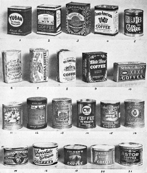 VARIOUS TYPES OF COFFEE CONTAINERS