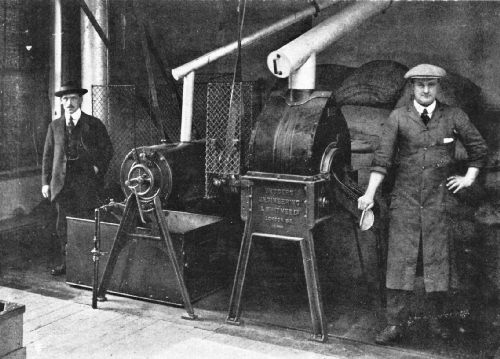 Faulder and Simplex Gas Roasters in an English Factory
