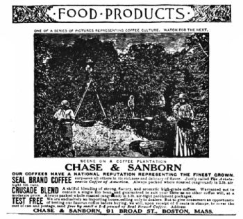 A Chase & Sanborn Advertisement, 1888