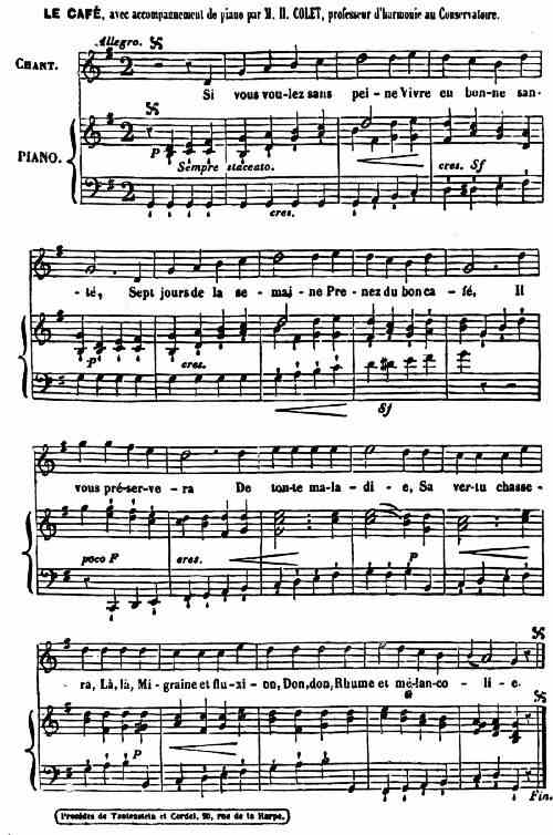 COFFEE—A CHANSON; MUSIC BY COLET, 1711