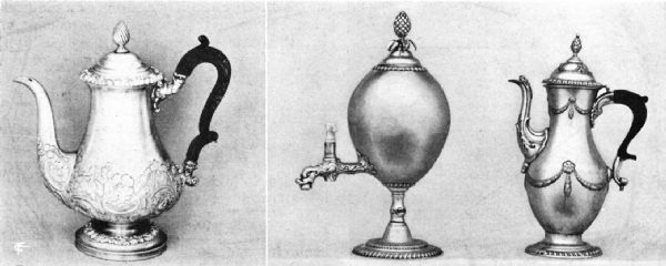 English Sheffield Plate Coffee Pots and Coffee Urn,