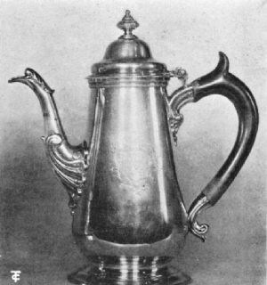 Coffee Pot by Wm. Shaw and Wm. Priest