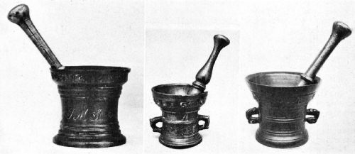 Bronze and Brass Mortars of the Seventeenth Century Used for Making Coffee Powder