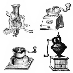 English and French Coffee Grinders