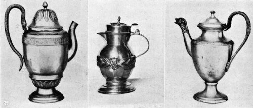 Belgian, Russian, and French Pewter Serving Pots