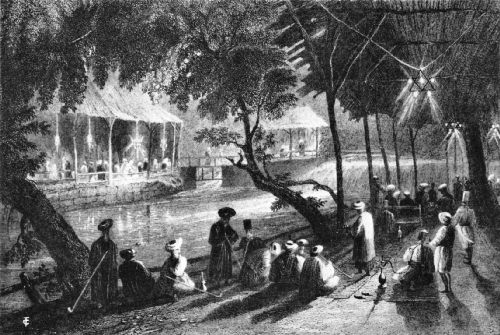 A Riverside Café in Damascus, Nineteenth Century