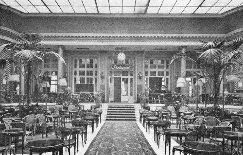 Palm Court in the Waldorf Hotel—A Popular Resort for