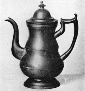 Britannia Coffee Pot from Which Abraham Lincoln Was Often