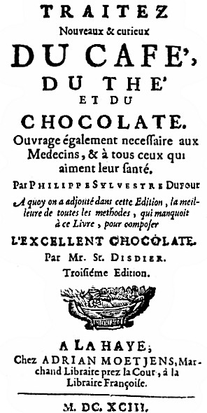 Title Page of Dufour's Book, Edition of 1693