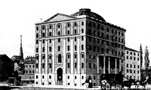 Exchange Coffee House, Boston, 1808, Probably the Largest and Most Costly in the World