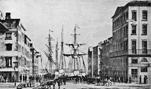 Merchants Coffee House (at the Right) as It Appeared from 1772 to 1804