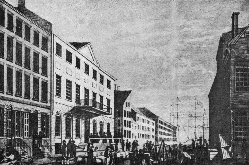 The Tontine Coffee House (Second Building at the Left), Opened in 1792