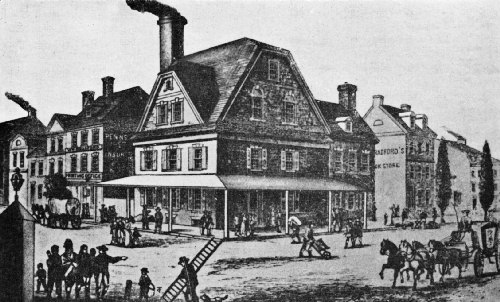 The Second London Coffee House, Opened in 1754 by William Bradford, the Printer